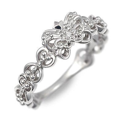 アチエ ホワイトゴールド リング 指輪 ダイヤモンド ホワイト 彼女 レディース 母の日 2020