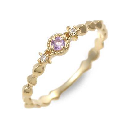 アチエ リング 指輪 アメジスト イエロー 20代 30代 彼女 レディース 人気 ブランド 母の日 花以外
