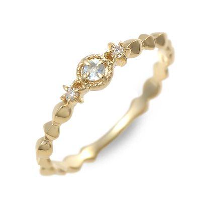アチエ リング 指輪 アクアマリン イエロー 20代 30代 彼女 レディース 人気 ブランド 母の日 花以外