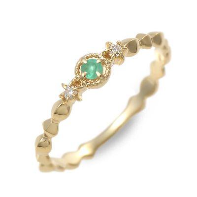 アチエ リング 指輪 5月誕生石 エメラルド イエロー 20代 30代 彼女 レディース 人気 ブランド 母の日 花以外