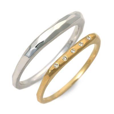 ペアリング Ache ホワイトゴールド 婚約指輪 結婚指輪 エンゲージリング ダイヤモンド 彼女 彼氏 レディース メンズ カップル ペア 誕生日プレゼント 記念日 ギフトラッピング アチエ 送料無料 ブランド 母の日 2020