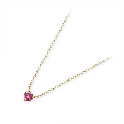 アチエ ゴールド ネックレス シンプル トルマリン ピンク 彼女 レディース 人気 ブランド 母の日 2020