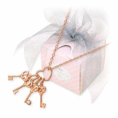 アチエ シルバー ネックレス ダイヤモンド ピンク 20代 30代 彼女 レディース 人気 ブランド 母の日