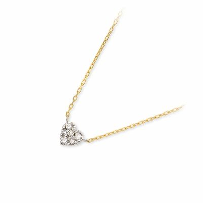 アチエ ネックレス ダイヤモンド イエロー 20代 30代 彼女 レディース ハート 人気 ブランド