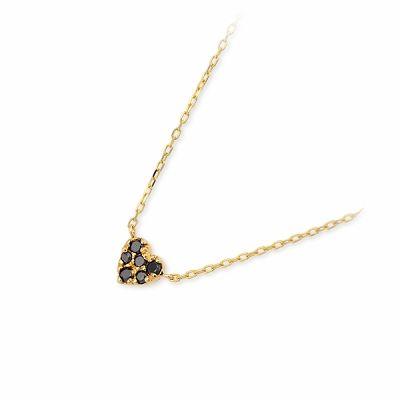 アチエ ネックレス ダイヤモンド ブラック 20代 30代 彼女 レディース ハート 人気 ブランド 母の日