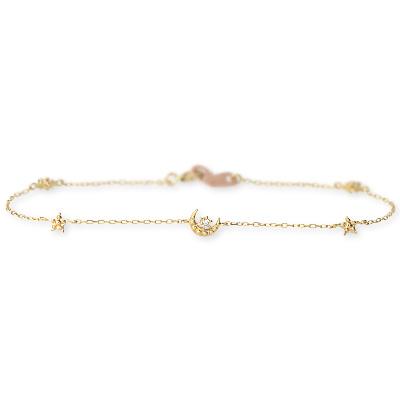 Ache ピンクゴールド ブレスレット ダイヤモンド 彼女 レディース 女性 誕生日プレゼント 記念日 ギフトラッピング アチエ 送料無料 母の日 2020