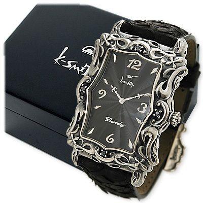 送料無料 K-SMITH シルバー 時計 彼氏 メンズ 誕生日プレゼント 記念日 ギフトラッピング ケイスミス