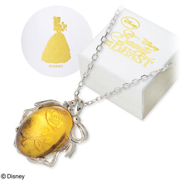 Disney Disney シルバー ネックレス 20代 30代 彼女 レディース 女性 誕生日プレゼント 記念日 ギフトラッピング ディズニー Disneyzone ベル 美女と野獣 プリンセス 送料無料