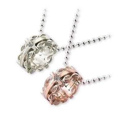 HIS jewelry collection ヒス・ジュエリーコレクション ペアネックレス キュービック ホワイト ブランド