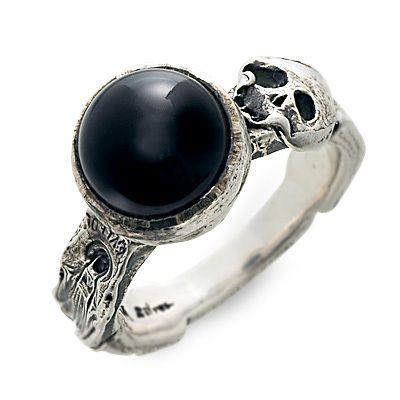 BIGBLACKMARIA ビッグブラックマリア シルバー リング 指輪 オニキス ホワイト 20代 30代 楽ギフ_包装 smtb-m