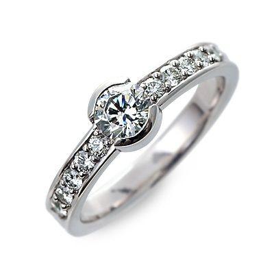 婚約指輪 エンゲージリング プラチナ ダイヤモンド 20代 30代 彼女 レディース 母の日