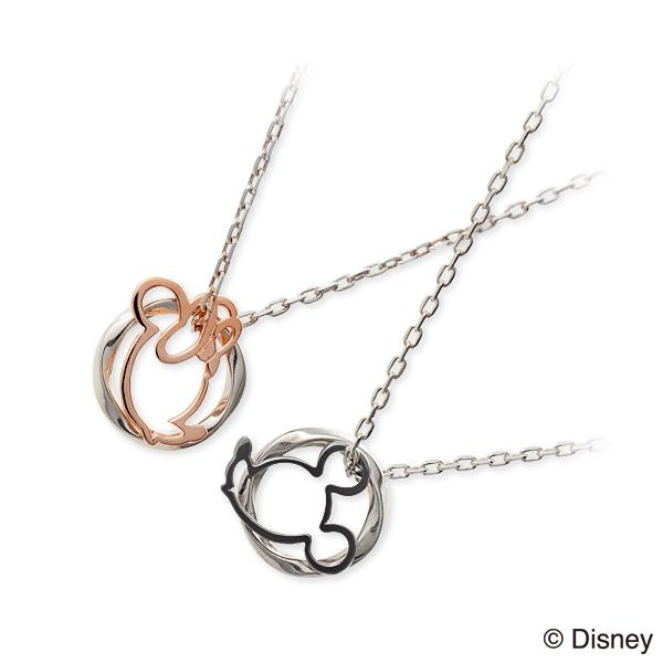 ディズニー Disney THE KISS ザ・キッス ペアネックレス ホワイト 20代 30代 人気 disney zone ブランド