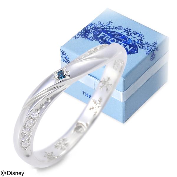 THE KISS Disney シルバー リング 指輪 婚約指輪 結婚指輪 エンゲージリング ダイヤモンド 20代 30代 彼女 レディース 女性 誕生日プレゼント 記念日 ギフトラッピング ザキッス ザキス ザ・キッス ディズニー Disneyzone アナと雪の女王 送料無料 母の日