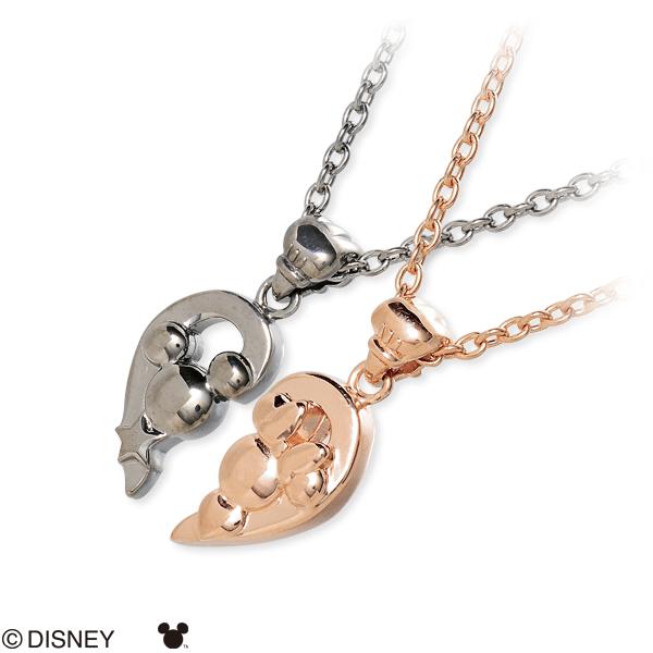 ディズニー Disney white clover ホワイトクローバー ペアネックレス ブラック 人気 disney zone ブランド