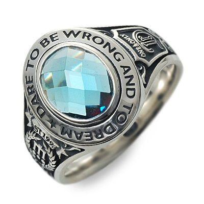 Dr MONROE ドクターモンロー シルバー リング 指輪 ブルー 20代 30代 彼氏 メンズ