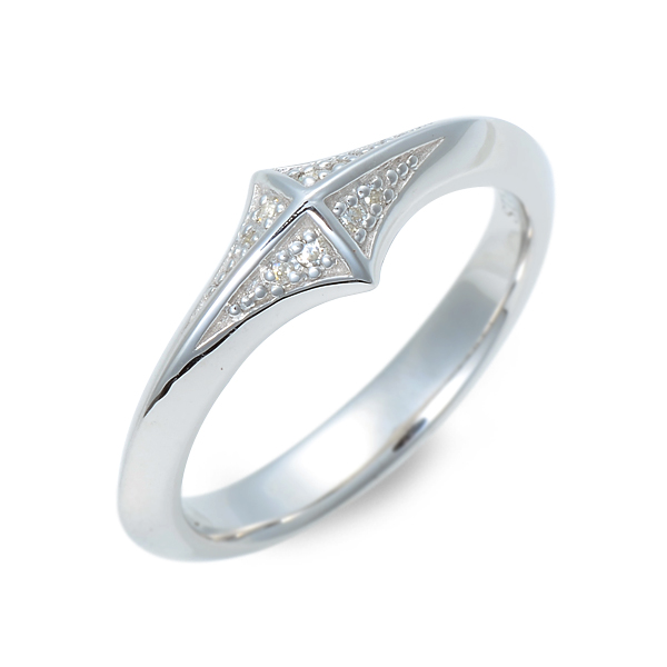 GARDEL ガーデル シルバー リング 指輪 キュービック ホワイト 20代 30代 彼氏 メンズ