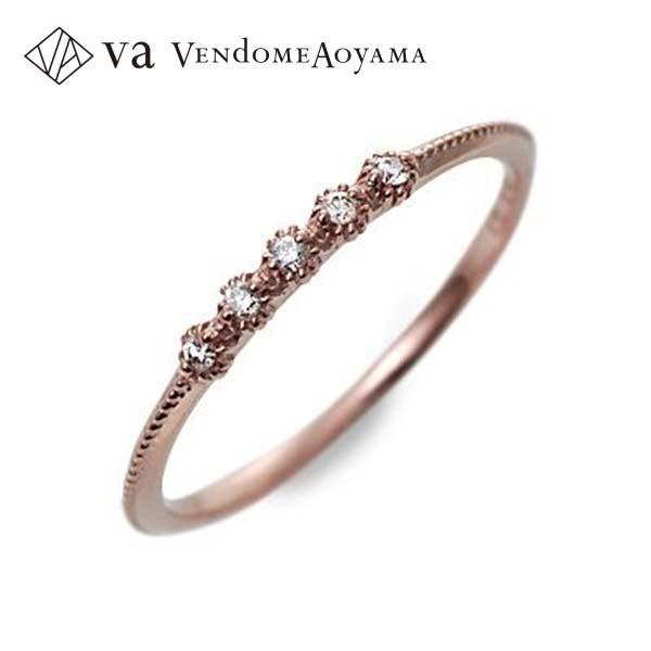 送料無料 VA Vendome Aoyama ピンクゴールド リング 指輪 婚約指輪 結婚指輪 エンゲージリング ダイヤモンド 彼女 レディース 女性 誕生日プレゼント 記念日 ギフトラッピング ヴイエーヴァンドームアオヤマ 母の日 2020