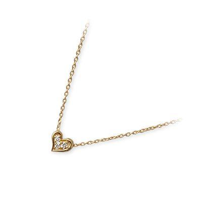 WISP ウィスプ ゴールド ネックレス ダイヤモンド イエロー 20代 30代 彼女 レディース ハート 母の日