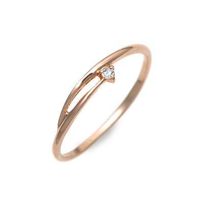 Goutte Dor グートドール ピンクゴールド リング 指輪 ダイヤモンド ピンク 20代 30代 彼女 レディース 母の日 2020