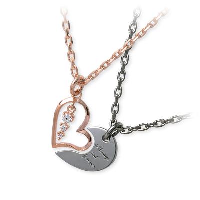 HEART OF CONCEPT ハートオブコンセプト シルバー ペアネックレス グレー ブランド