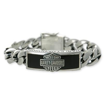 Harley Davidson R By Thierry Martino Men S Silver Bracelets Onyx