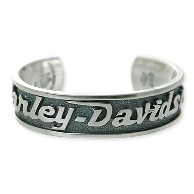 Silver Harley Davidson R By Thierry Martino Men S Bangles