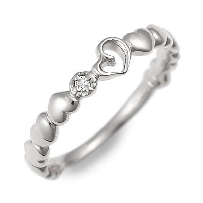 送料無料 JURER DEUX ホワイトゴールド リング 指輪 婚約指輪 結婚指輪 エンゲージリング ダイヤモンド ハート 20代 30代 彼女 レディース 女性 誕生日プレゼント 記念日 ギフト ラッピング ジュレドゥ 母の日 花以外