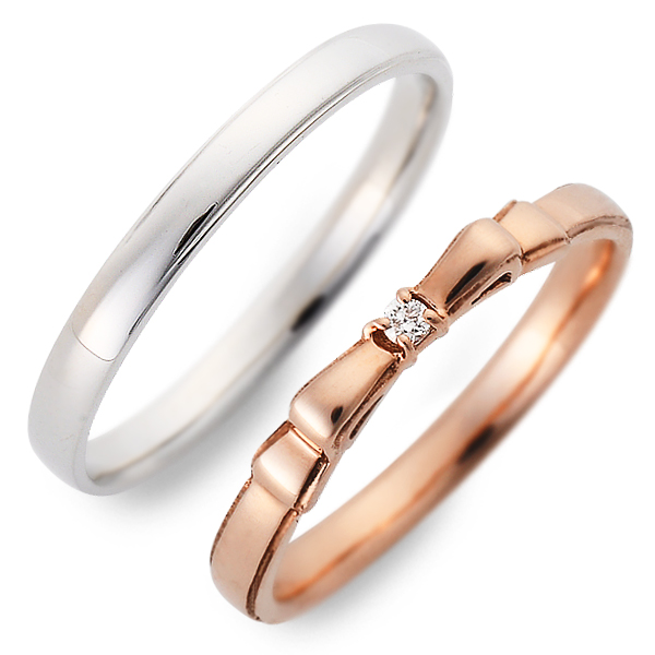 送料無料 JURER DEUX ピンクゴールド ペアリング 婚約指輪 結婚指輪 エンゲージリング ダイヤモンド 20代 30代 彼女 彼氏 レディース メンズ カップル ペア 誕生日プレゼント 記念日 ギフトラッピング ジュレドゥ ブランド