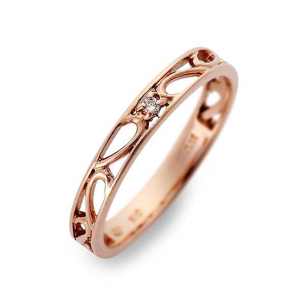 送料無料 JURER DEUX ピンクゴールド リング 指輪 婚約指輪 結婚指輪 エンゲージリング ダイヤモンド 20代 30代 彼女 レディース 女性 誕生日プレゼント 記念日 ギフト ラッピング ジュレドゥ 母の日 花以外