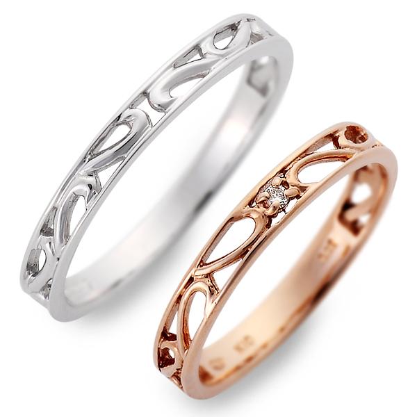 ペアリング 送料無料 JURER DEUX ピンクゴールド 婚約指輪 結婚指輪 エンゲージリング ダイヤモンド 彼女 彼氏 レディース メンズ カップル ペア 誕生日プレゼント 記念日 ギフトラッピング ジュレドゥ ブランド