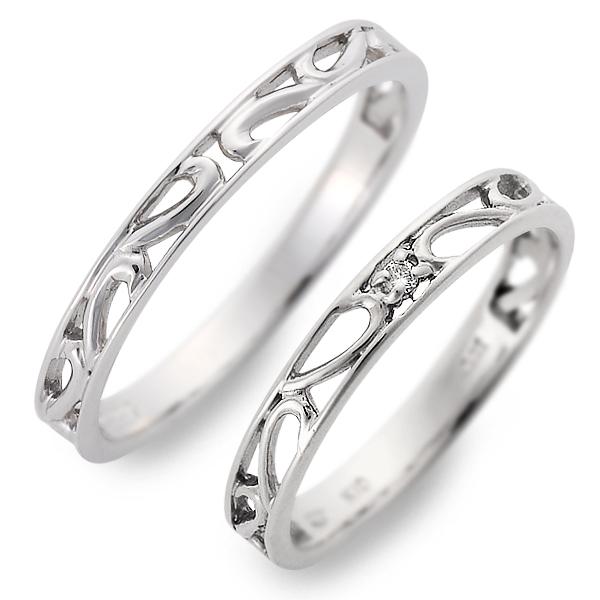 ペアリング 送料無料 JURER DEUX ホワイトゴールド 婚約指輪 結婚指輪 エンゲージリング ダイヤモンド 彼女 彼氏 レディース メンズ カップル ペア 誕生日プレゼント 記念日 ギフトラッピング ジュレドゥ ブランド 母の日 2020