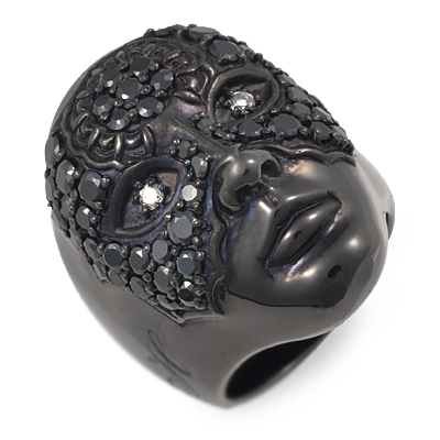 HOLLOOW ホロー シルバー リング 指輪 キュービック ブラック 20代 30代 彼氏 メンズ