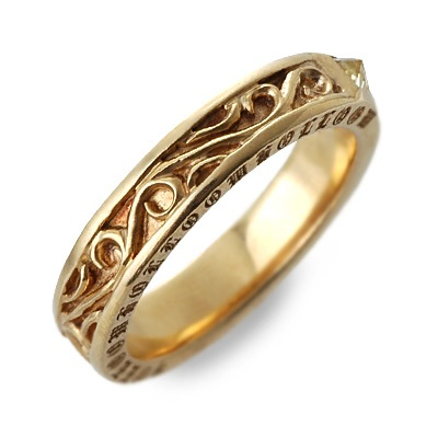 HOLLOOW ホロー シルバー リング 指輪 イエロー 彼氏 メンズ 父の日 人気 ブランド