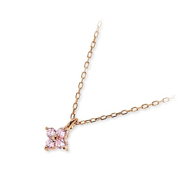vie ヴィー ピンクゴールド ネックレス シンプル ピンク 彼女 レディース 人気 ブランド 母の日 2020