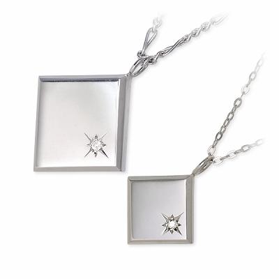 ダイヤモンド ネックレス KENBLOOD ケンブラッド シルバー ペア ホワイト ブランド