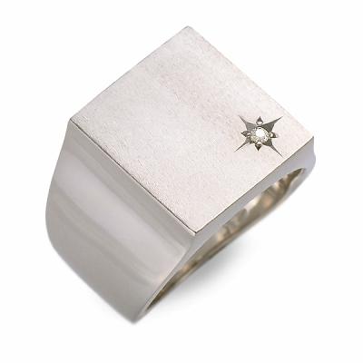 KENBLOOD ケンブラッド リング 指輪 ダイヤモンド ホワイト 彼氏 メンズ