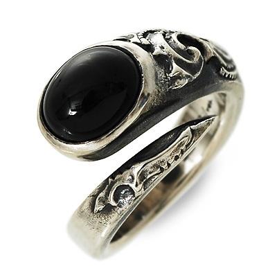 ましらかしら シルバー リング 指輪 ブラック 彼氏 メンズ 人気 ブランド