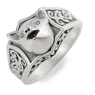 ましらかしら シルバー リング 指輪 ホワイト 20代 30代 彼氏 メンズ 人気 ブランド