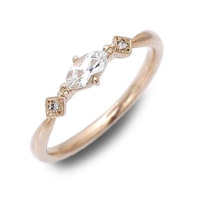 LA PUREZZA ラ・プレッツァ ピンクゴールド リング 指輪 トパーズ ピンク 20代 30代 彼女 レディース 母の日 花以外