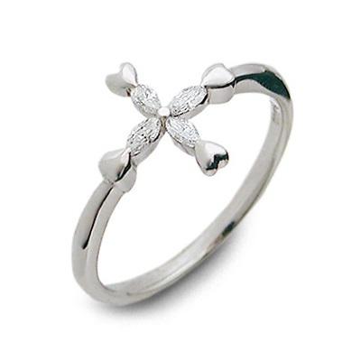 LA PUREZZA ラ・プレッツァ プラチナ リング 指輪 ホワイト 彼女 レディース クロス 母の日 2020