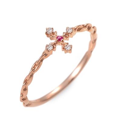 LOVERS&RING ラバーズアンドリング ピンクゴールド リング 指輪 ルビー ピンク 20代 30代 彼女 レディース 母の日 花以外