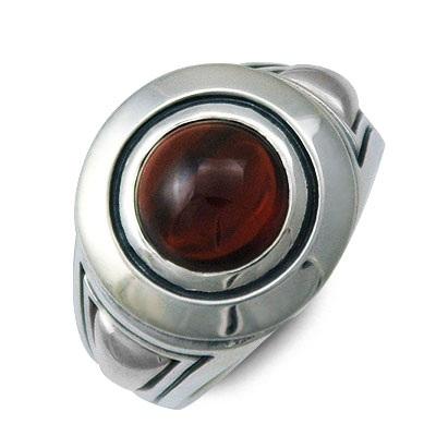 M's collection エムズコレクション シルバー リング 指輪 ガーネット レッド 彼氏 メンズ 父の日