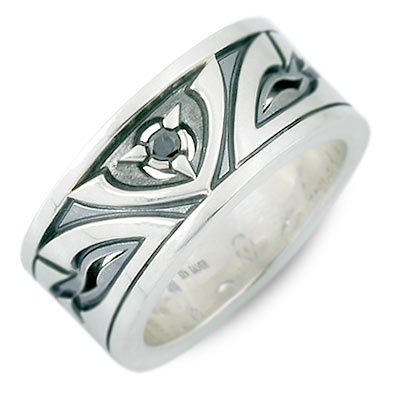 M's collection エムズコレクション シルバー リング 指輪 ホワイト 20代 30代 彼氏 メンズ