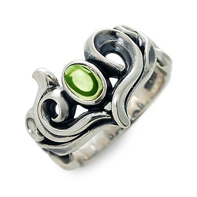 M's collection エムズコレクション シルバー リング 指輪 ペリドット ホワイト 20代 30代 彼女 レディース 母の日 花以外