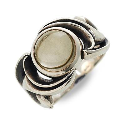 M's collection エムズコレクション シルバー リング 指輪 クォーツ ホワイト 20代 30代 彼氏 メンズ
