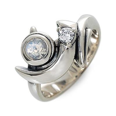 M's collection エムズコレクション シルバー リング 指輪 ムーンストーン ホワイト 20代 30代 彼女 レディース 母の日 花以外