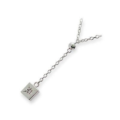 【店内全品ポイント10倍】 M・Heart シルバー ネックレス ダイヤモンド ホワイト 20代 30代 彼女 レディース 母の日