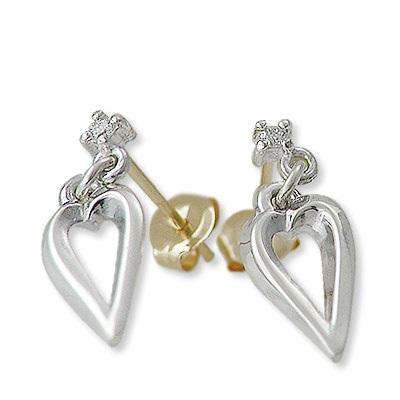 ギフト ラッピング 対応 当店限定販売 女性 彼女 未来天使 シルバー パーティ ホワイト ピアス 大人気 レディース ダイヤモンド 結婚式