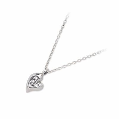 ダイヤモンド ネックレス シンプル PUERTA DEL SOL プエルタデルソル シルバー  ホワイト 彼女 レディース ハート 母の日 2020