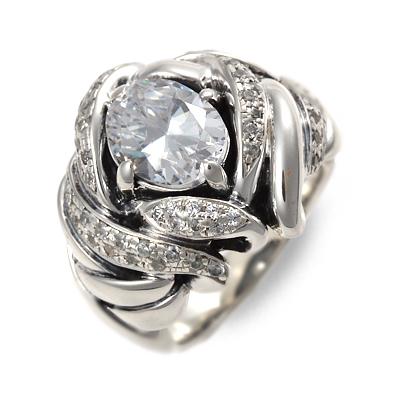 GIGOR ジゴロウ シルバー リング 指輪 キュービック ホワイト 彼氏 メンズ